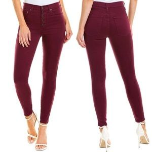 Alice + Olivia Currant Good High Rise Skinny Jeans
